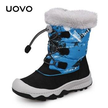 74621e51a Niños botas de nieve impermeable botas de invierno 2018 UOVO niños de la  nueva llegada caliente
