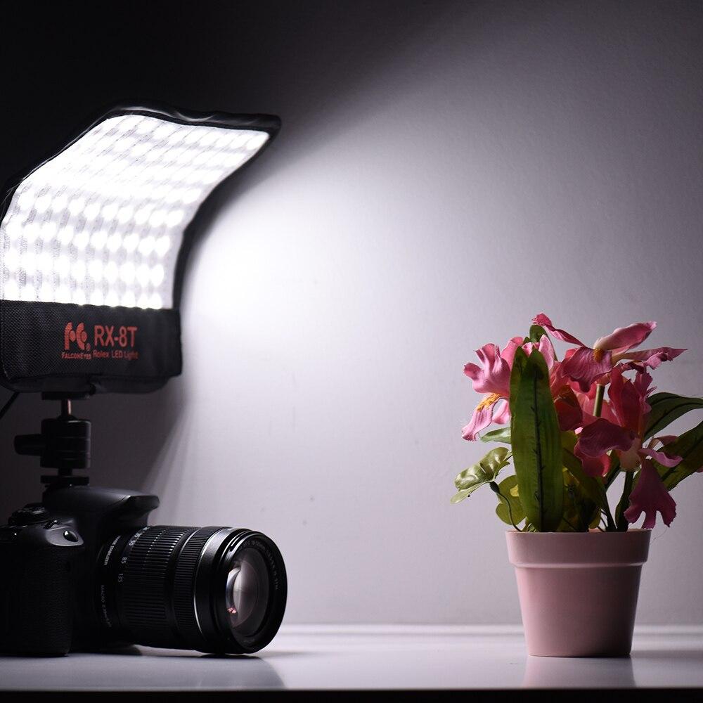 FalconEyes RX 8T 16W Mini luz led para vídeo 5600K CRI94 paño Flexible lámpara de luz diurna a prueba de salpicaduras para fotografía de estudio - 6
