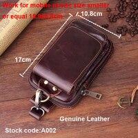 Belt Clip Man Genuine Cow Leather Mobile Phone Case Pouch For iphone 8 Plus,ASUS Zenfone 4/4 Pro/4 Selfie Pro/4 Max Pro