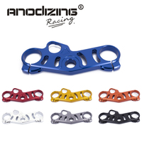 FREE SHIPPING black gold red blue For Suzuki GSXR1000 2006 2010 gsxr600 06 09 Lowering Triple Front End Upper Top Clamp