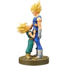 Anime Dragon Ball Z Vegeta Trunks Action Figure DragonBall Dramatic Showcase Super Saiyan Figuras Collectible Model Toys 21cm
