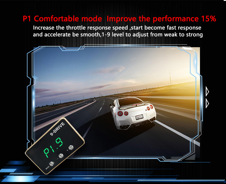 Image 5 - Manufacturer 9 Drives 5 Modes Car Electronic Throttle Controller  Plug & Play Portable Car Performance Electronic Car-in Head-up Display from Automobiles & Motorcycles