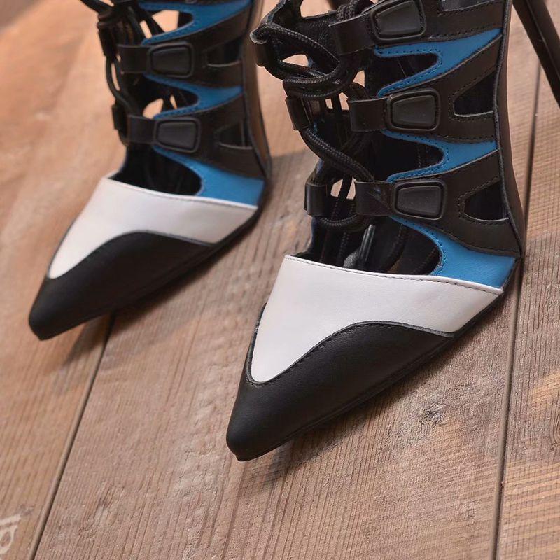 Pointu Mixte Talon Feminino Chaussures Zapatos Mode Couleur Mariage Mince Show Femmes De Haute Mujer Sapato Bout Parti Talons As Nouvelle Marque Pompes fIIwrqT