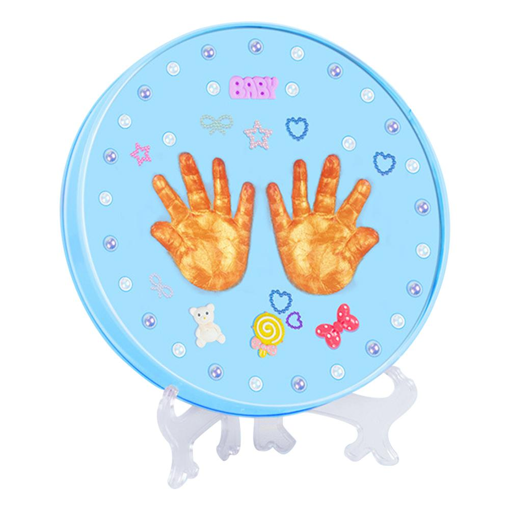 Baby Infants Hand Foot Hair Ink Paste Mud Souvenir Set Innovative Gift Hand Mask Template Commemorative Box For 1-3 Years