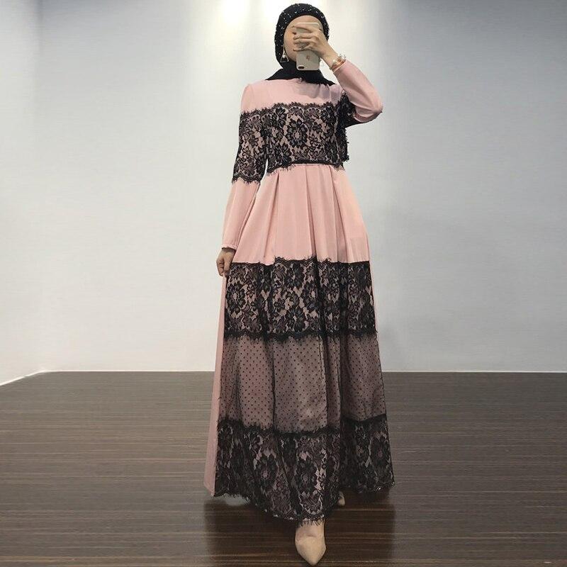 Lace Abaya Dubai Muslim Dress Abayas For Women Ramadan Kaftan Hijab Dress Turkey Caftan Marocain Elbise Turkish Islamic Clothing