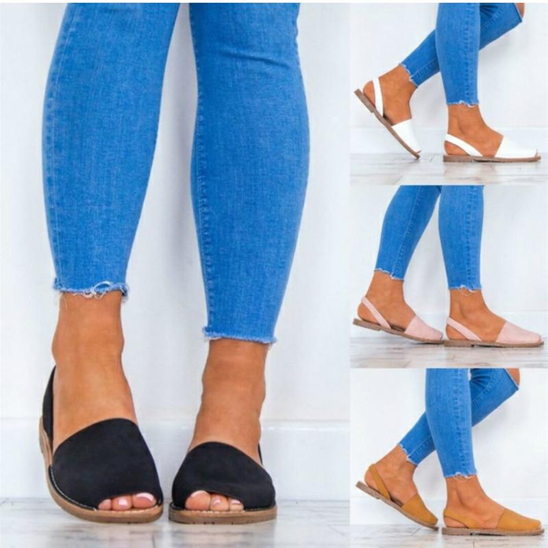 Qadınlar üçün təsadüfi istirahət üçün möhkəm platforma yay ayaqqabıları