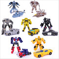 7 unids/lote Transformación Kids Classic Robot Coches Juguetes Para Niños de Acción y Del Juguete Figuras