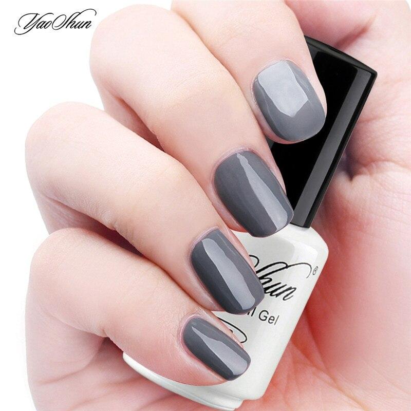 Ongle en gel gris fonc - Ongle gel gris ...