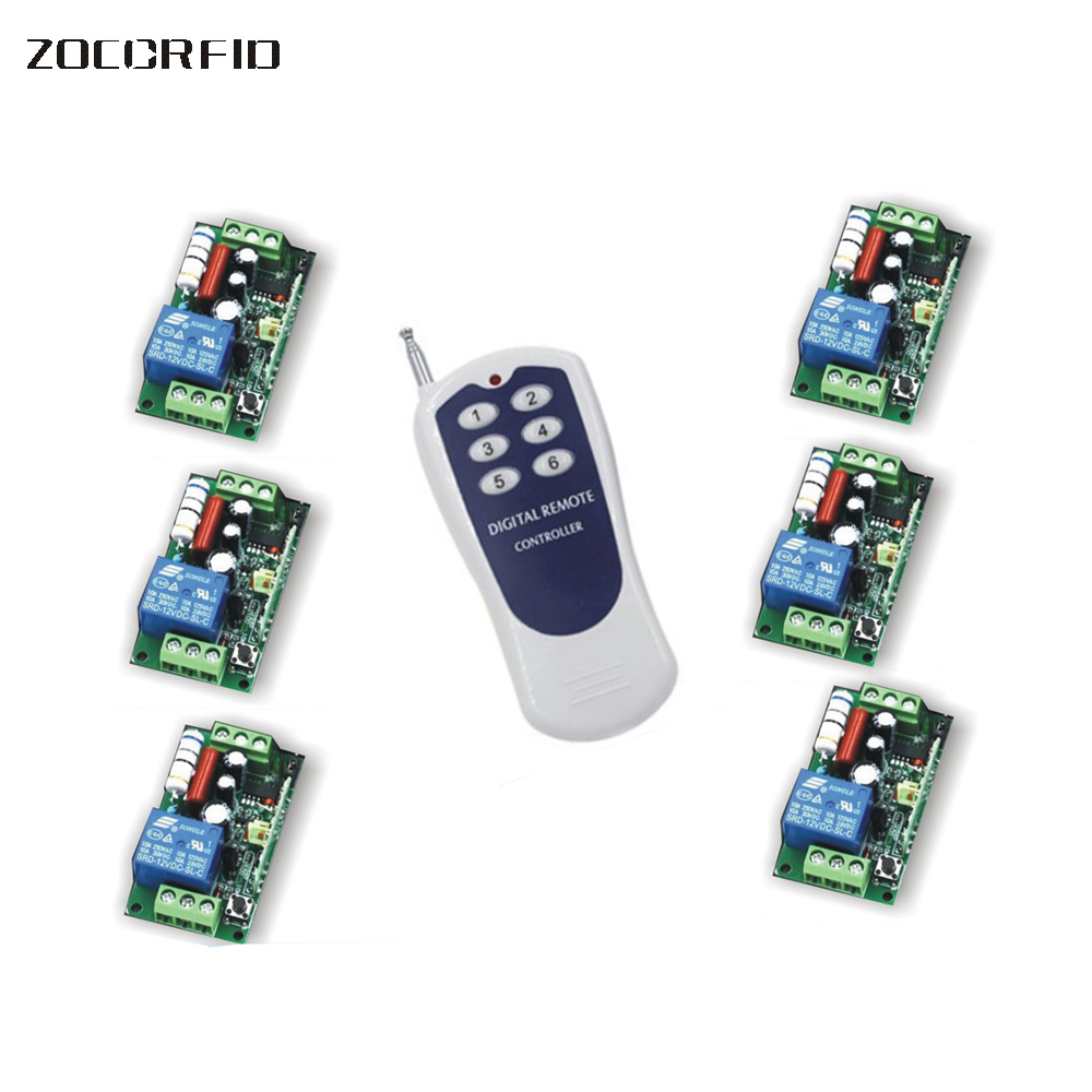 Wireless 6 Channels ON/OFF DC12V Remote Control Switch Digital Remote Control Switch for alarm & Electronic lock