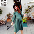 Pregnant Women In Spring and Summer New Leisure Out of Long Pregnant Women Dress Long Sleeves Pregnant Women Skirt