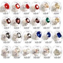 100 adet farklı kristal OVal kalp şekli alaşım Glitter inci tırnak sanat dekorasyon 3D için tırnak takı, a2 24 24 tasarımlar