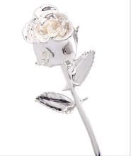 24K Silver Dipped Real Rose Plated Flower Party Decoration  Thanksgiving Birthday Valentines Day Anniversary