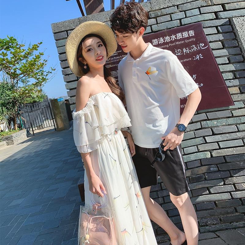 c0909aee1ac Sexy Plage En D été Conduites Taille Whihte Dénudées Femme Grande 2019 Boho  De Pour Mousseline Blanc Épaules Robe ...