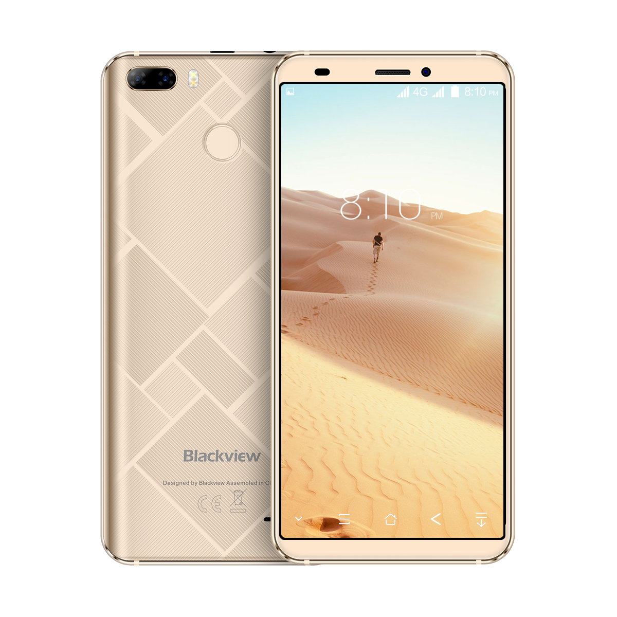 Original Blackview S6 Celular 5.7 polegada 18:9 HD + Sceen Completo 2 GB + 16 GB MT6737VWH Quad Core android 7.0 Dual Cams Traseira Sma