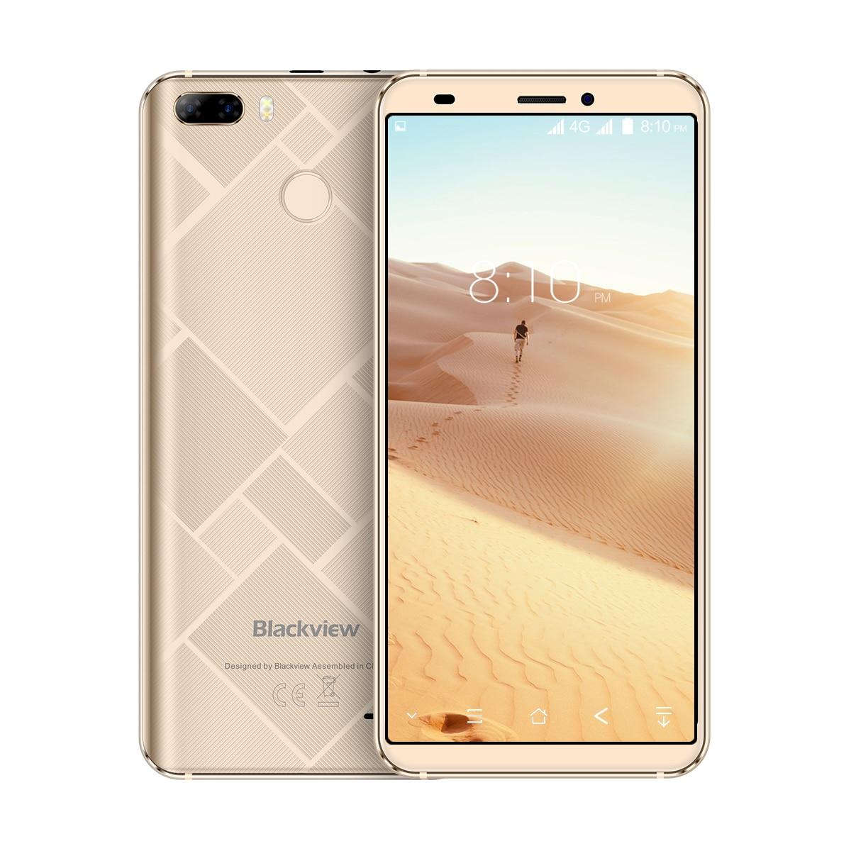 Téléphone portable Original Blackview S6 5.7 pouces 18:9 HD + écran complet 2 GB + 16 GB MT6737VWH Quad Core Android 7.0 double caméra arrière Sma