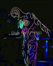 LED luminous Western-style clothes for performance/business suit/light-up suits/light with leds