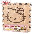Meitoku rompecabezas del juego del bebé estera, 9 unids/lote ejercicio alfombra de espuma eva dibujos animados, enclavamiento pad for kids each30x30cm de espesor 1 cm