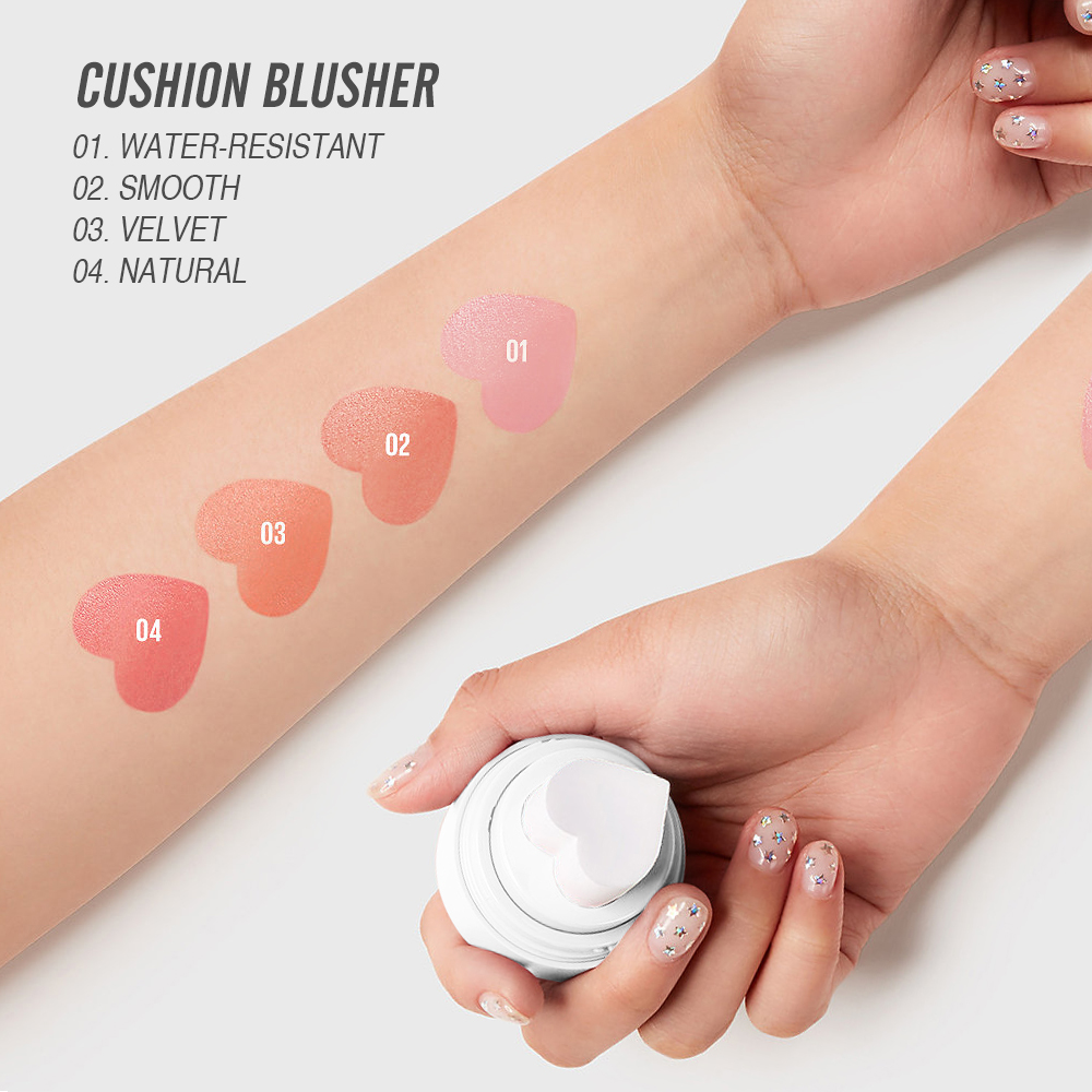 Image 2 - O.TWO.O 4pcs/set Air Cushion Blush Shimmer Effect Natural Long Lasting Waterproof Makeup Kit For WholesaleBlush   -
