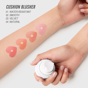 Image 3 - O.TWO.O Air Cushion Blusher Folding Heart Shape Shimmer Blush Rouge 4 Colors Easy To Wear Natural Face Contour Make Up