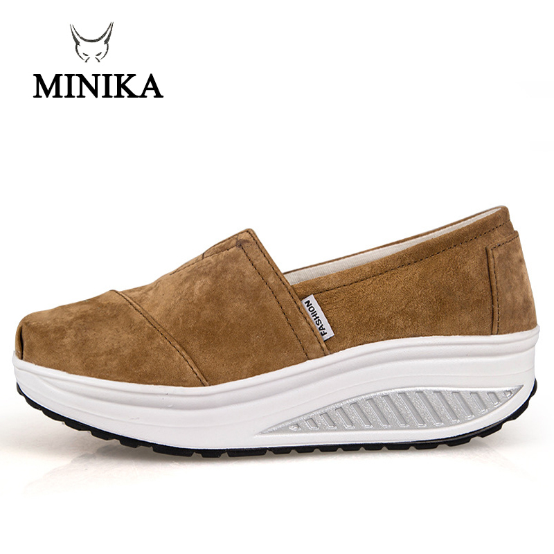 Minika slimming swing women platform breathable female single shoe weight loss flat outdoor Shoes Free Shipping Chaussure femme minika top quality women s fashion slimming platform shoes casual canvas travel shoes woman fitness lady swing shoes femme
