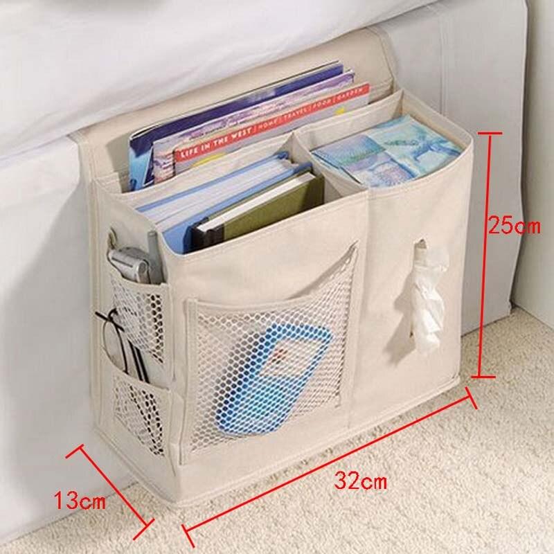 Storage Pouch Novelty Desktopside Bedside Pocket Bed Organizer Convenient Hanging Bag For Phone Holder Book Sundries Magazine Home Office Storage