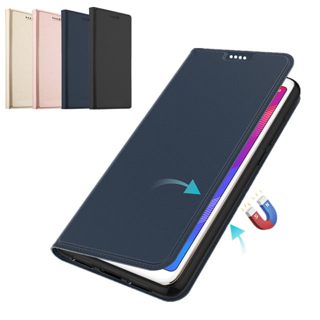 For Huawei Honor 8X/Play 8A/10 Lite 2019 Case PU Leather Flip Stand Cover with Card Pocket For Huawei P20 Lite Y6 Y7 Pro 2019