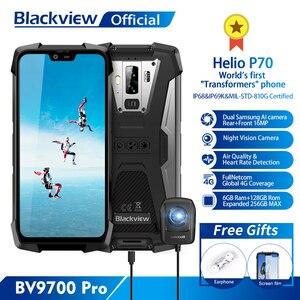 Image 1 - Blackview BV9700 פרו Helio P70 6GB + 128GB אנדרואיד 9.0 Smartphone 16 + 8MP ראיית לילה מצלמה כפולה IP68 עמיד למים טלפון נייד