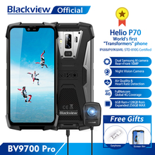 Blackview BV9700 Pro Helio P70 6GB + 128GB Android 9.0 มาร์ทโฟน 16 + 8MP Night Vision Dual กล้อง IP68 โทรศัพท์มือถือกันน้ำ