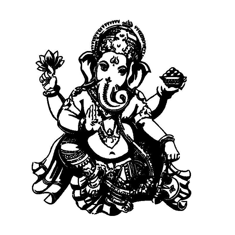 buddha dance indian hinduism wall sticker home decor wall decal elephant ganesh buddhism india namaste lotus om yoga god d570b
