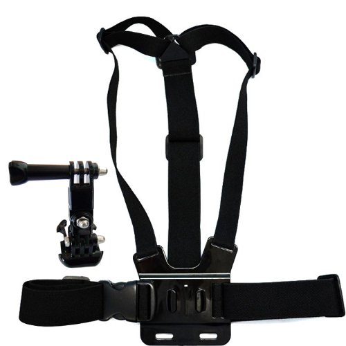 ETC-mount adapter camera tripod + chest strap elastic body adjustable shoulder strap for GoPro HD Hero March 2