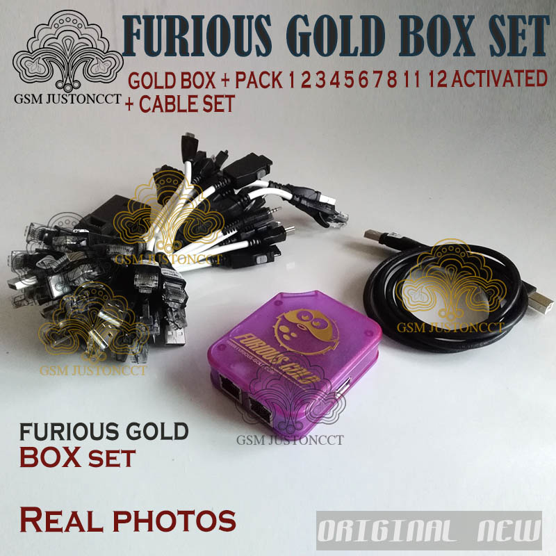 DHL TO New Furious Gold Box 1ST CLASS With 30 Cables + Activated With Packs( 1, 2, 3, 4, 5, 6, 7, 8, 11.12) No 8 9