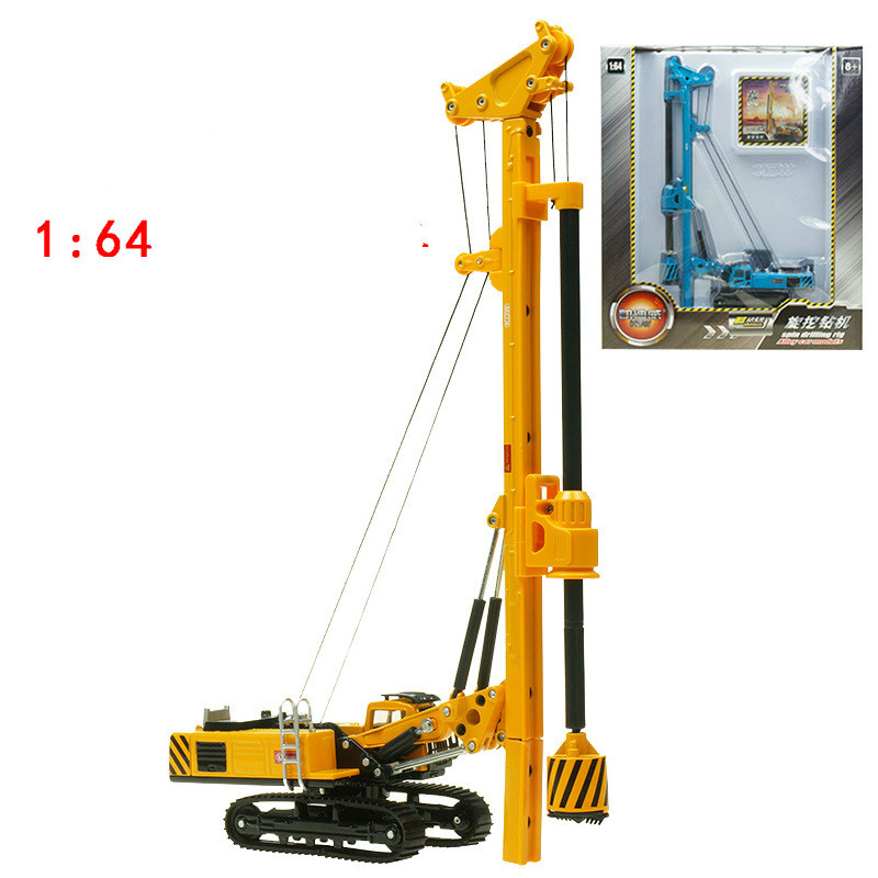 KDW toy car high quality rotating Drilling rig die cast