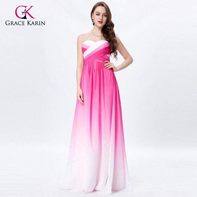 9919ff5a2730 Grazia Karin Abiti Da Sera In Chiffon Sweetheart Colorful Da Sposa Eleganti  Lunghi Vestiti Da Partito
