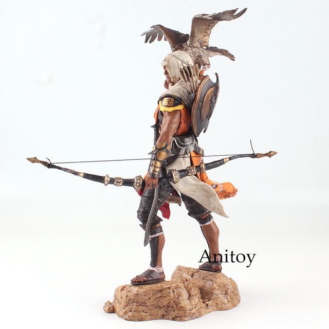 Assassins Creed Assassin's Creed Origines Bayek Protecteur with his eagle PVC Action Figure Model Toy Gift 28cm 2