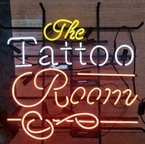 Custom Made Tattoo Room Glass Neon Light Sign Beer Bar