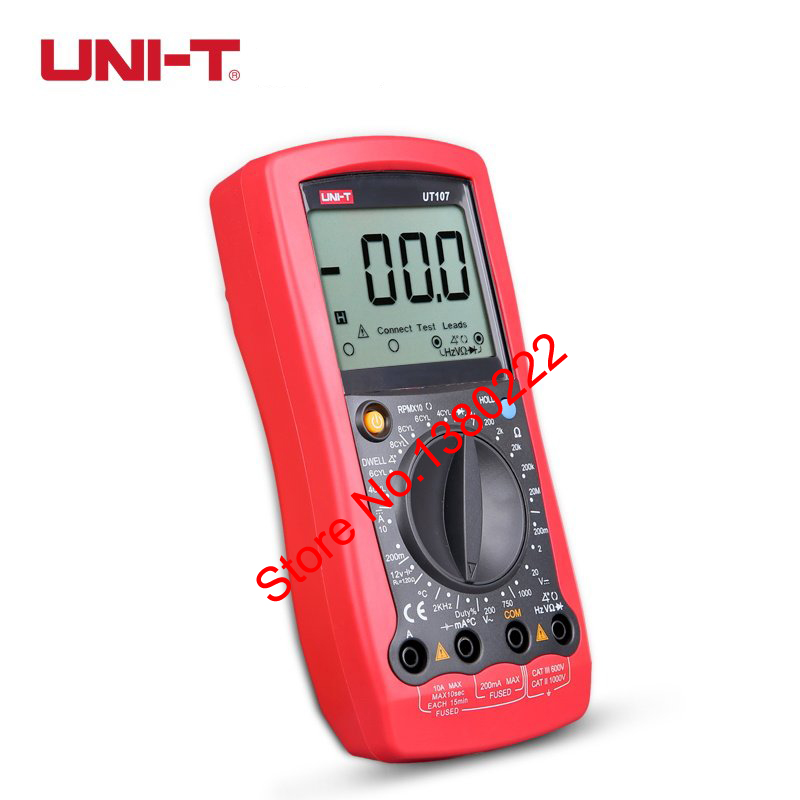 Ac Dc Digital Voltmeter Kit : Uni t ut digital multimeter handheld ac dc voltmeter