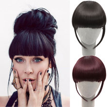 Front Hair Bangs Extension Clip in Hair Bang Synthetic Heat Resistant Fiber Hair Fringe Cute Hair Fringe Bang