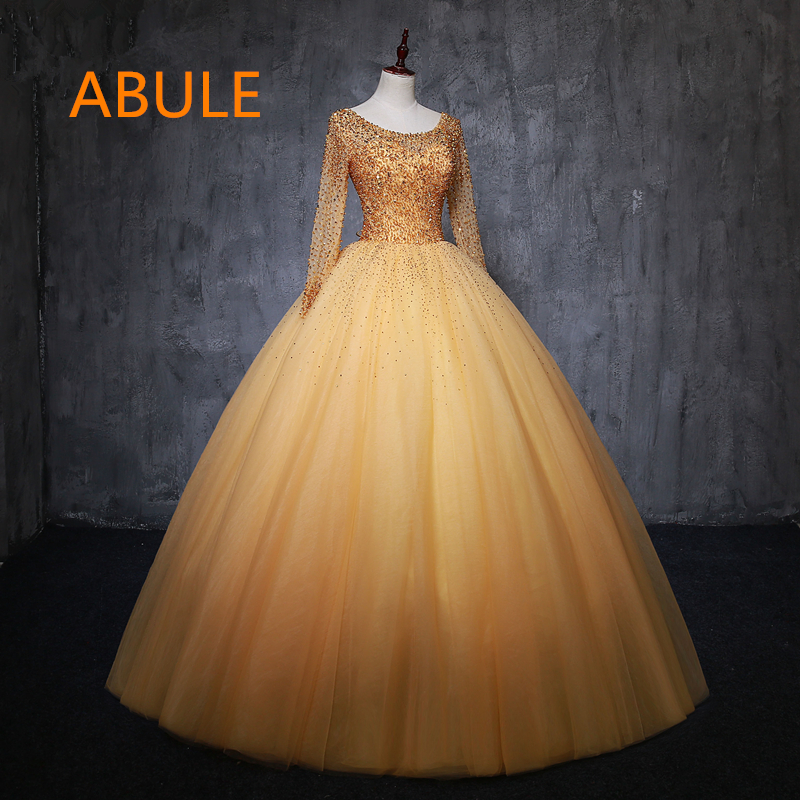 beb9e2bb3a8 abule Quinceanera Dresses Ruffles lace up beads illusion ball gown prom  dress Debutante Gown 15 Years Layer Tulle Custom size