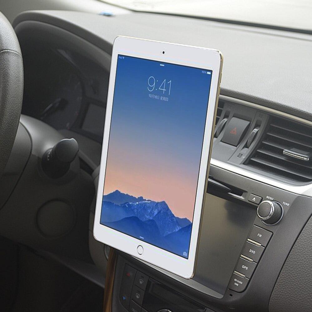 Tablet uchwyt samochodowy pojemnik z kieszeniami na cd telefon komórkowy/tablety/stojak magnetyczny GPS samochód 360 obrotowy uchwyt do iphone'a iPad Pro Air 2 miPad