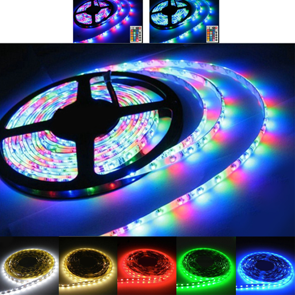 5M 5050 Waterproof RGB LED Strip Light 300 LEDs DC 12V Red Warm White Cool White Flexible SMD 5630 LED Diode Ribbon Tape Lamp 72w 3600lm 6500k 300 5050 smd led white light lamp strip w rf dimmer black white yellow 5m