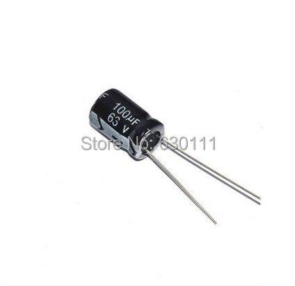 500 pcs 100 uF 63 V 105 ad alta frequenza Radial Condensatore Elettrolitico 8*12mm