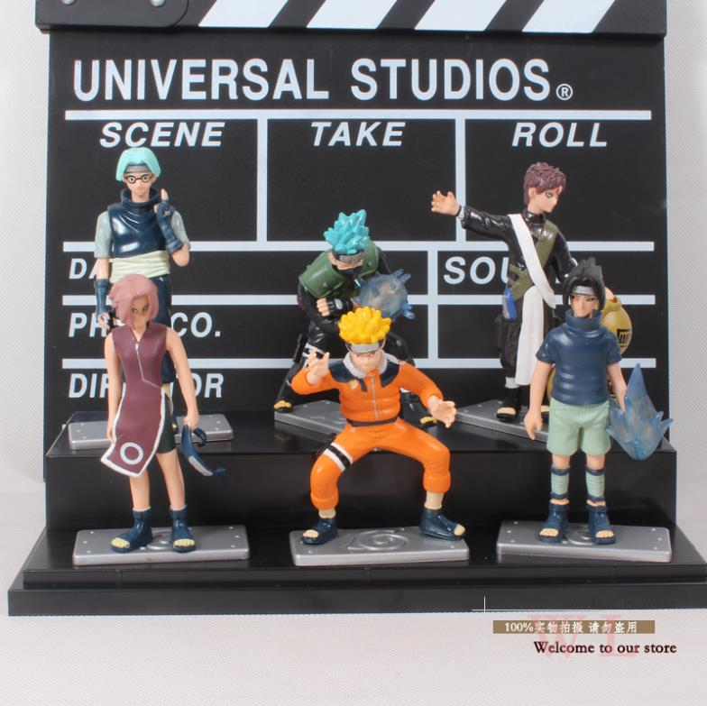 Anime Naruto Kabuto Gaara Kakashi Sasuke Sakura PVC Action Figures Collectible Model Cartoon Toys Dolls 6pcs/set Free Shipping