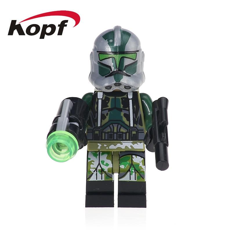 Single Sale Star Wars Clone Trooper Commander Gree Neyo Bricks Set Model Building Blocks Education Toys for children Gift XH 633