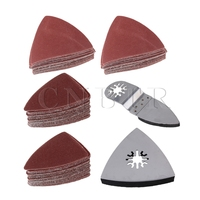 CNBTR Universal Finger Triangular Sanding Paper With Polishing Sanding Pad Set Of 102