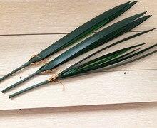 11pcs Plastic Cymbidium Orchid Plant Artificial Greenery 7 leaf branches Leaf 61cm for Floral Arrangement part