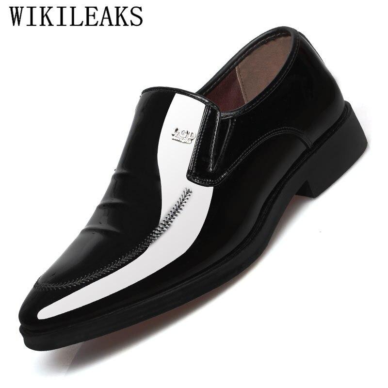 13c8e3da2df5 Hombre Zapatos Cuir Chaussures De Mocassins Robe Oxford 2 Formelle Designer  Bureau Verni En Hommes Pour ...