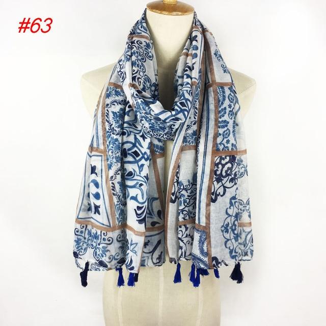 Belle mode jolie fleur imprimé écharpe wrap châle pour musulman dans ... 631ba188b01