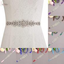 Стразы пояс для свадебного платья невесты атласная лента аксессуары