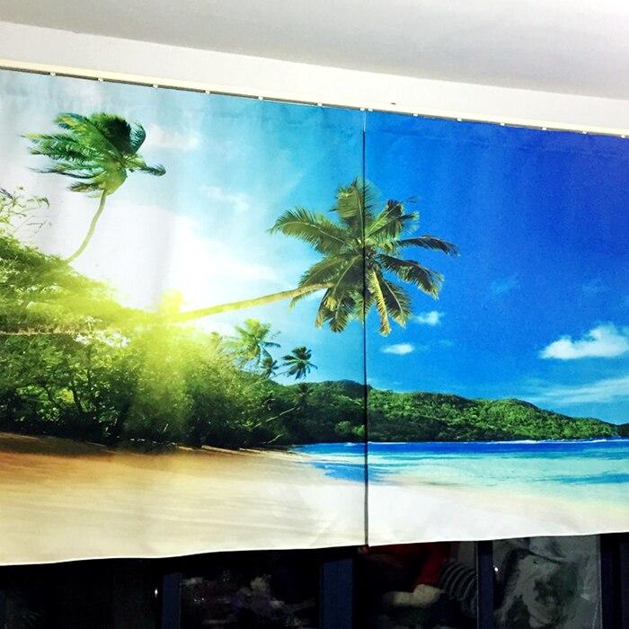 Scenery Curtains aliexpress : buy 3d 2 panel window curtain set 3d hologram