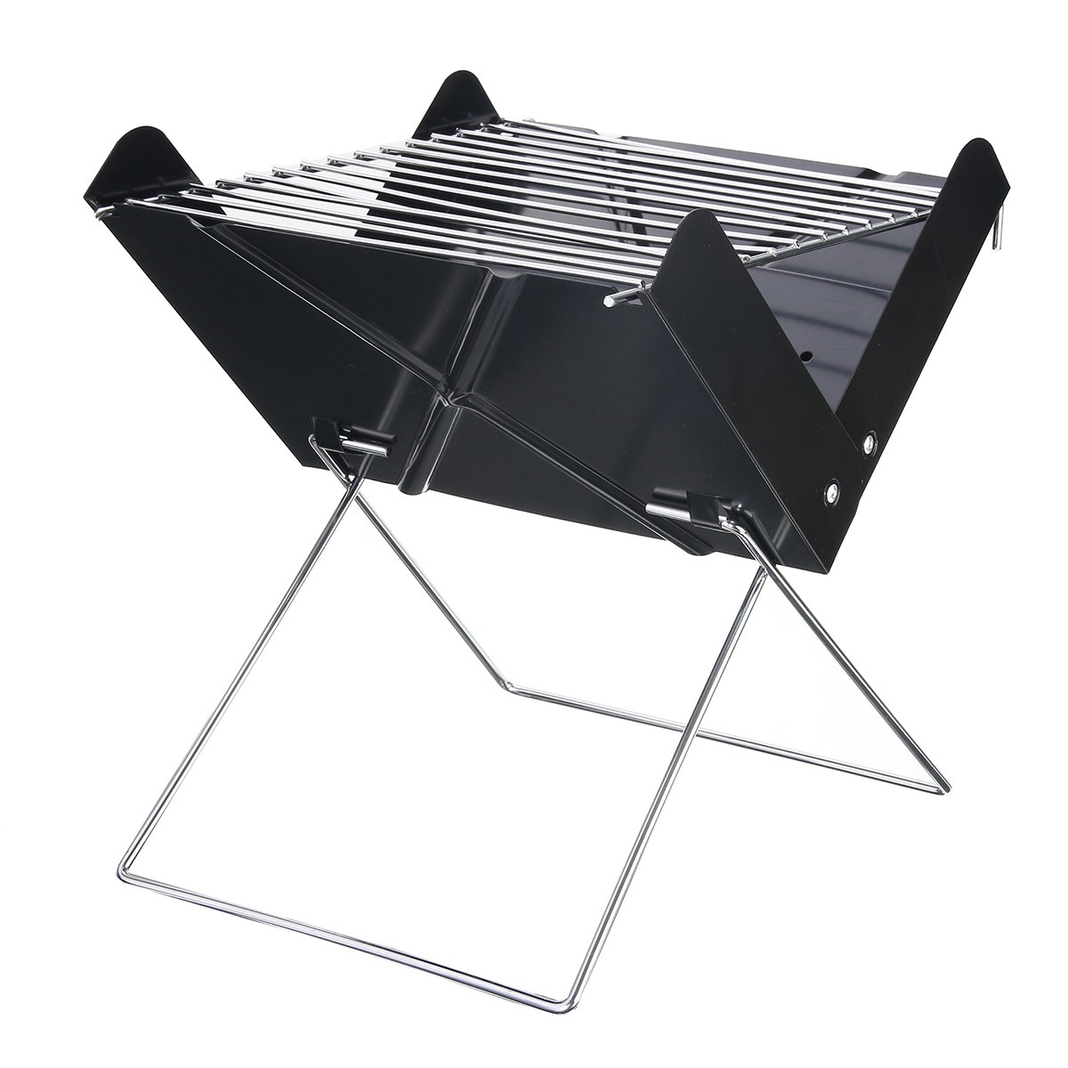 Barbecue Grills Stainless Steel Outdoor Foldable Camping BBQ Portable  Cooking Travel Ultralight Oven Rack Tools 29